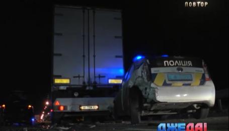 Авария с участием полицейских произошла в столице