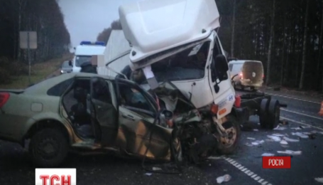 Четверо украинцев погибли в ДТП в России