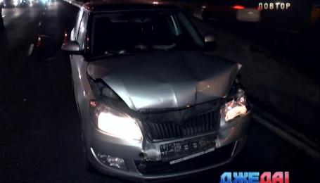 В Киеве произошла авария из-за собаки