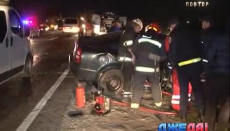 Тройная авария произошла на Львовщине