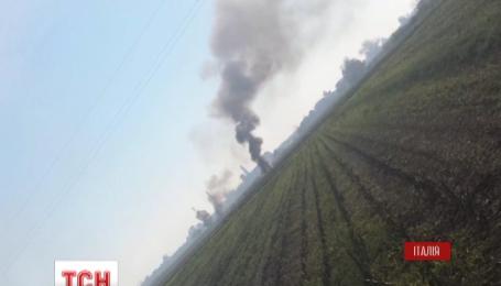 В Италии разбился военный самолет