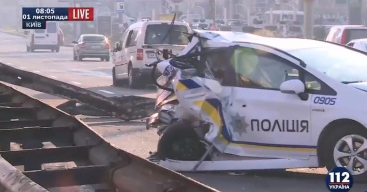 В Киеве произошло масштабное ДТП с участием патрульных, шестеро человек пострадали