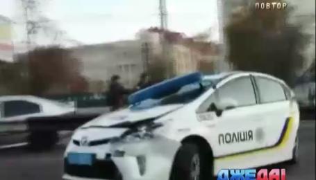 Ужасная авария с участием полиции произошла на проспекте Победы в Киеве