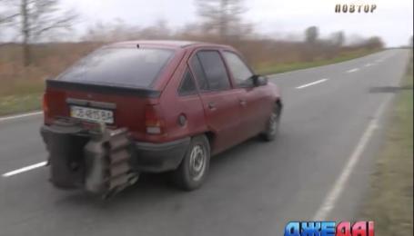 Украинец перевел авто на потребление твердого топлива