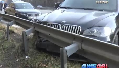 На Бориспольской трассе произошла авария с тремя участниками