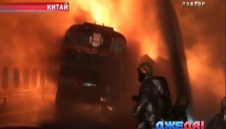 В Китае из-за тумана столкнулись 6 авто