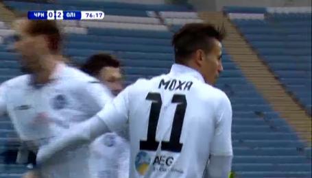 Черноморец - Олимпик - 0:2. Видео гола Мохи