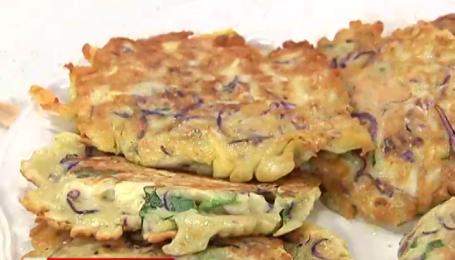 Рецепт оладків з капустою від Руслана Сенічкіна