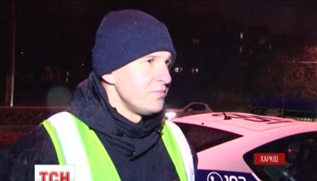 Харьковская милиция за два часа разыскала пьяного водителя, который сбил на дороге полицейского