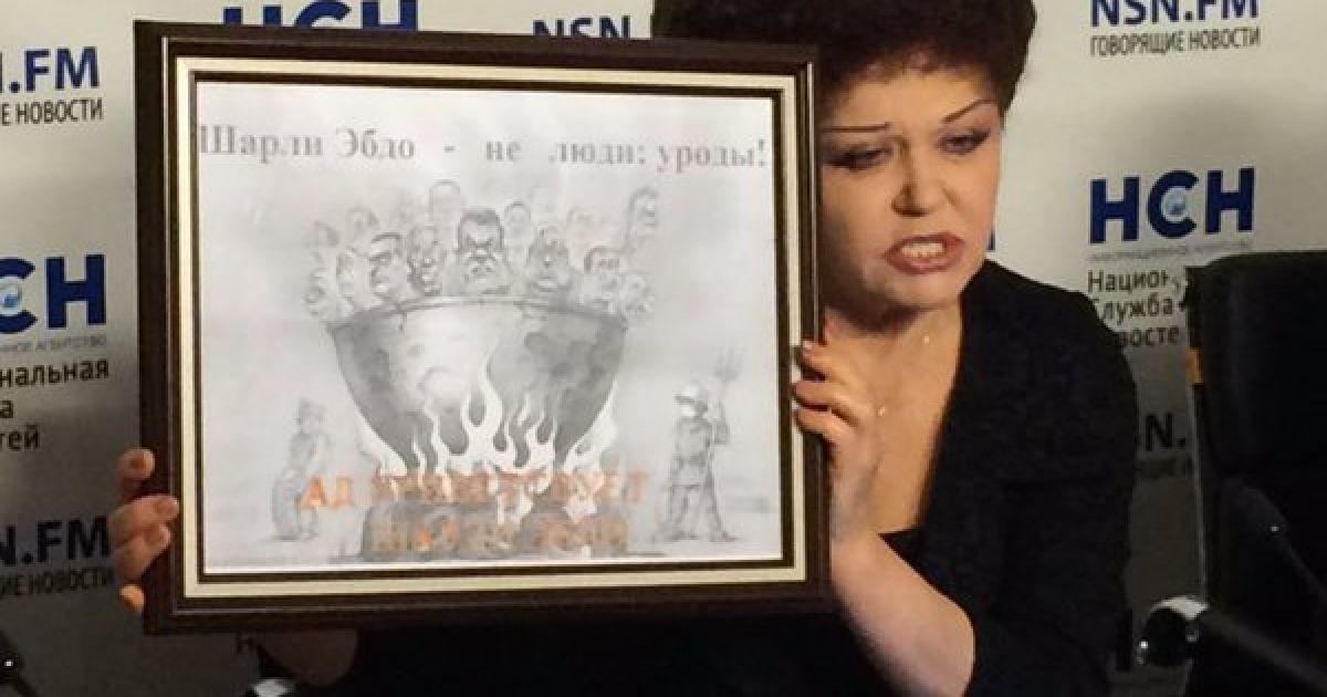 Российская сенатор опозорилась из-за украденной у украинца карикатуры на Charlie Hebdo