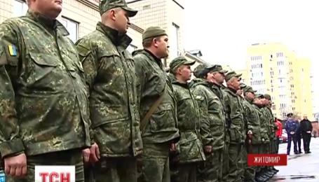 Из зоны АТО в Житомир домой вернулось полсотни правоохранителей