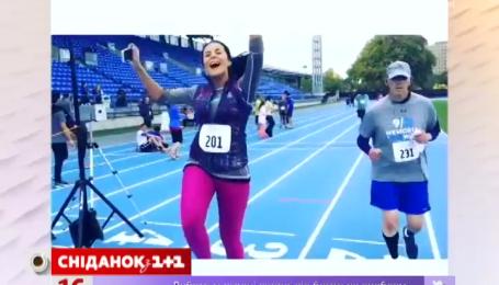 Настя Каменских приняла участие в нью-йоркском марафоне