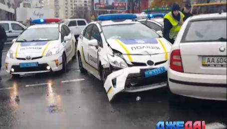 Столичные полицейские снова разбили свой автомобиль