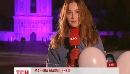 Софию Киевскую подсветили фиолетовым