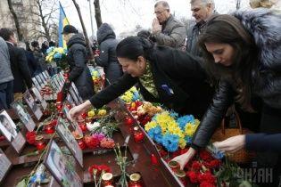 Вторую годовщину Евромайдана отметили автопробегом, блокировкой Институтской и сорванным концертом