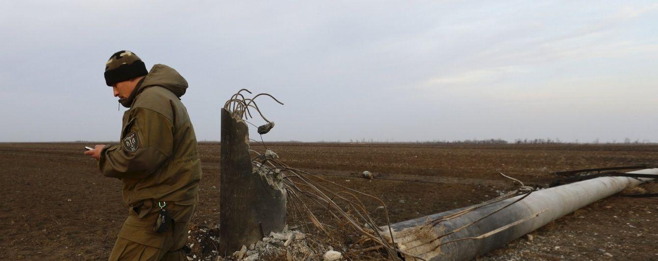 """Блэкаут в Крыму 2.0: На Херсонщине упала электроопора """"Каховка – Титан"""""""