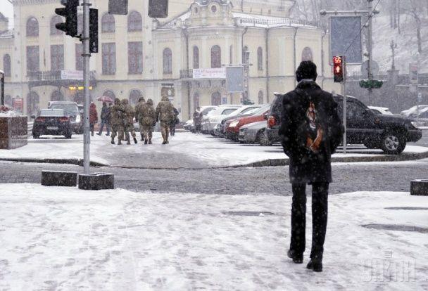 Перший сніг у Києві: сором'язлива панда та радісні кияни