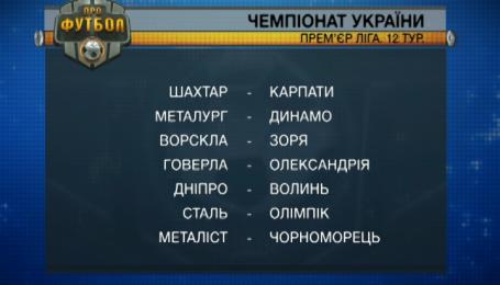 На початку грудня пройдуть матчі перенесеного 12 туру чемпіонату України