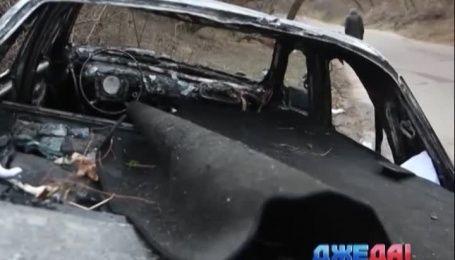 В Житомире на трассе сгорела легковушка