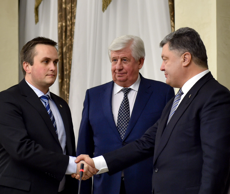 Назар Холодницький та Петро Порошенко