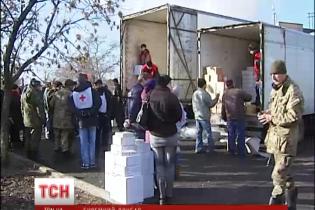 Знеструмлене сепаратистами прифронтове село отримало гуманітарну допомогу