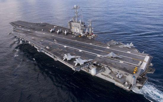 Американська авіаносна ударна група увійшла до Середземного моря