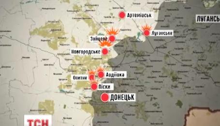Бойовики обстріляли українські позиції 14 разів за ніч