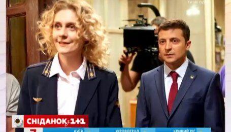 Катерина Кістень розповіла про співпрацю на знімальному майданчику із Зеленським