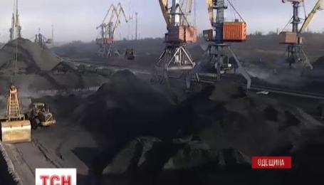 В Одесской области разгружают балкер с южноафриканским углем