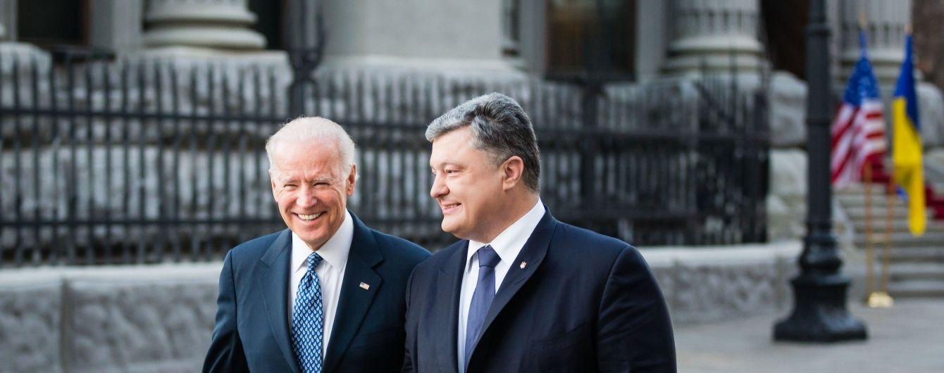 Порошенко домовився із Байденом про транш у мільярд доларів