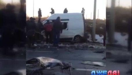 Недалеко от Харькова произошла лобовая авария