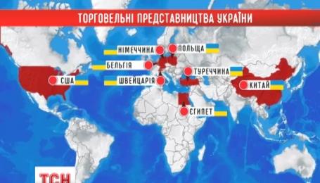 Украина для продвижения своих товаров в мире откроет 8 торговых представительств за рубежом