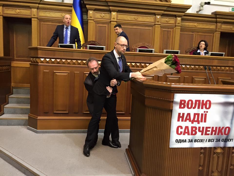Арсеній Яценюк та Олег Барна