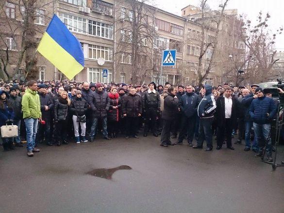 Мітинг колишніх правоохоронців під МВС (ПОГАНЕ фото)