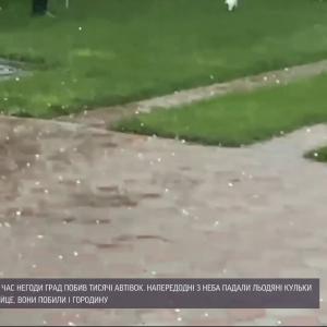 """""""Такого граду ще не бачили"""": в Миколаївській області негода потрощила автомобілі та знищила урожай"""