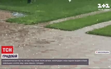 """""""Такого града еще не видели"""": в Николаевской области непогода потрощила автомобили и уничтожила урожай"""