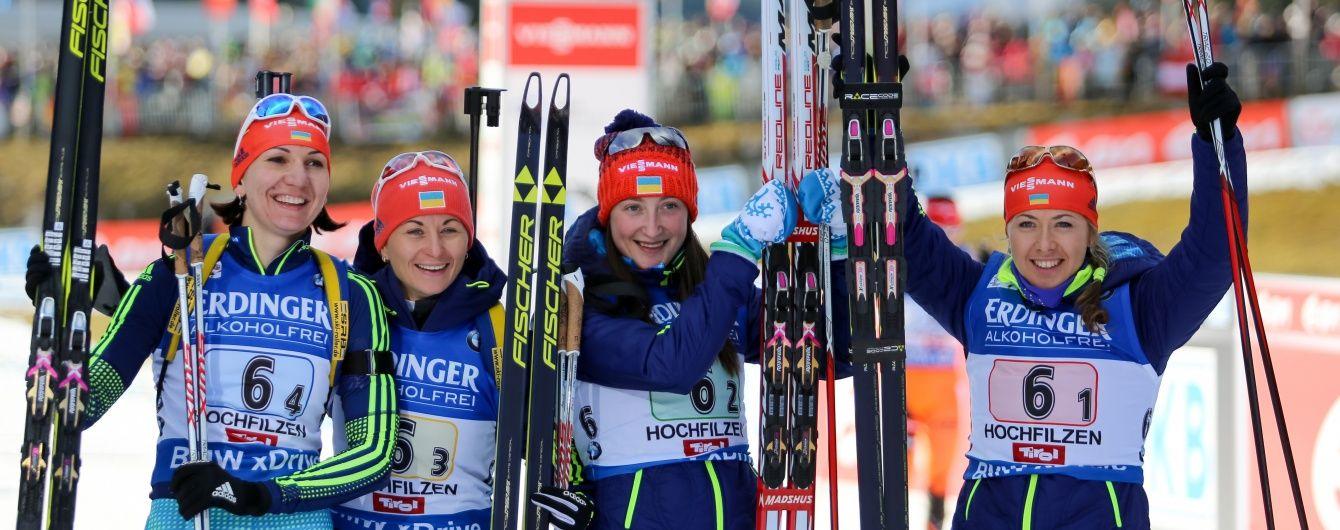 """Україна виграла """"бронзу"""" в жіночій естафеті на Кубку світу з біатлону"""