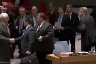 З'явилося відео, на якому Клімкін тисне руку одіозному Чуркіну після РБ ООН