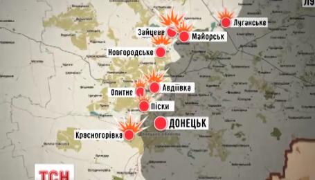 Боевики ведут огонь с запрещенного минскими договоренностями оружия