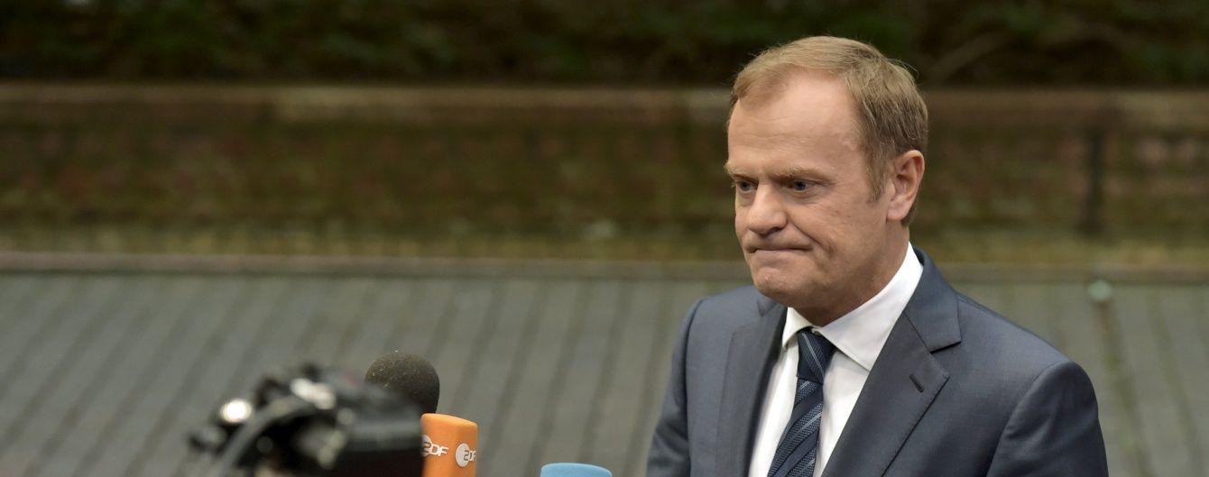 Туск просить розглянути подовження санкцій ЄС проти Росії вже цієї п'ятниці