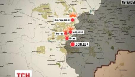 Боевики ведут огонь по позициям сил АТО из запрещенного минскими договоренностями оружия