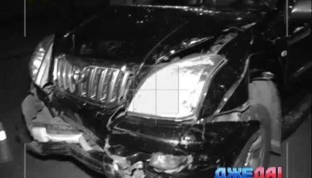 На Харьковском шоссе произошло тройное ДТП