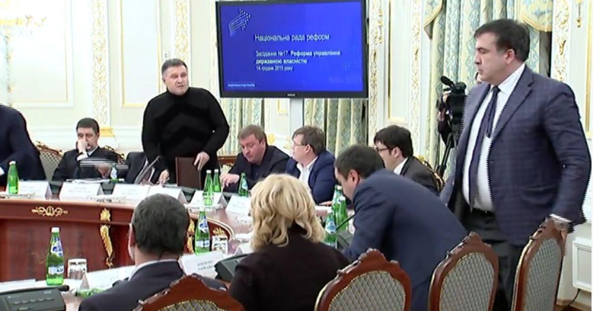 Полная текстовая расшифровка скандальной перепалки Авакова и Саакашвили
