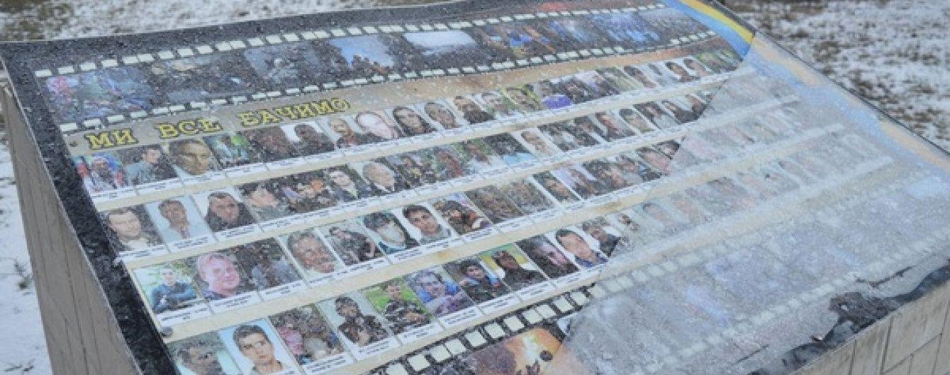 """На Сумщині вандали розтрощили пам'ятник """"Небесній сотні"""" та героям АТО"""