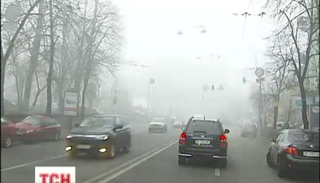 Киев накрывает мокрый снег с дождем