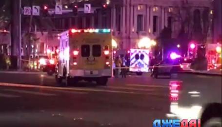 В Лас-Вегасе женщина вылетела на тротуар и сбила несколько десятков пешеходов
