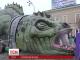 На центральній площі у Харкові з'явився 45-метровий дракон