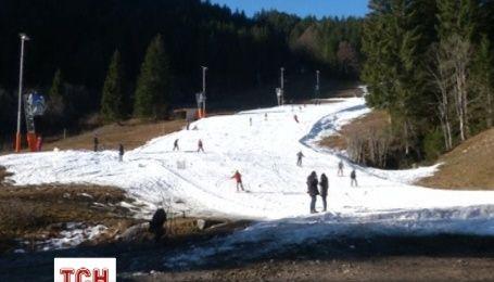 Немецкие горнолыжные курорты пустуют из-за отсутствия снега