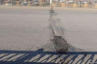 В анексованому Криму тріснув керченський міст