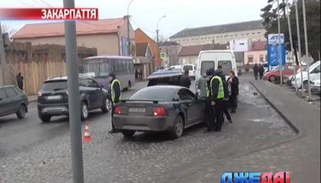 На Закарпатье произошла тройная авария